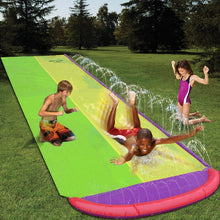 Load image into Gallery viewer, 4.8m Giant Surf 'N Double Water Slide Lawn