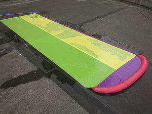 4.8m Giant Surf 'N Double Water Slide Lawn
