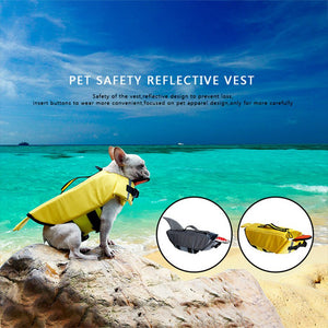 Dog Puppy Swimming Reflective Life Vest Cartoon Life Jacket