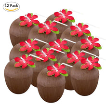 Load image into Gallery viewer, 12 Pcs Plastic Coconut Cups
