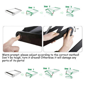 Adjustable Foldable Tablet Floor Stand Holder Desk