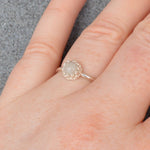 Genuine Moon Dust Small Princess Ring