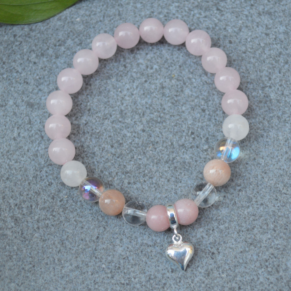 Attracting Love Crystal Healing Bracelet