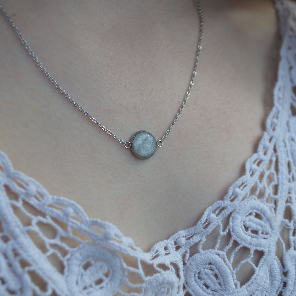 Silver Hypoallergenic Ashes Floating Necklace