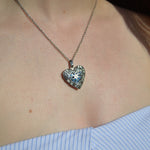 Heart Locket Silver Hypoallergenic Ashes Necklace