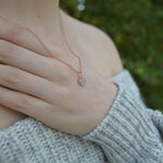 Genuine Lunar Moon Dust Phoenix Rose Gold Necklace