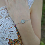 Silver Hypoallergenic Ashes Floating Bracelet