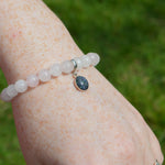 Phoenix Small Stone Ashes Rose Quartz Bracelet