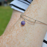 Phoenix Small Round Stone Ashes Bangle Bracelet