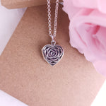 Heart Rose Ashes Locket