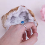 Princess Round Stone Full Band Ashes Ring