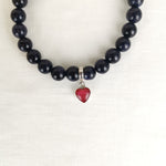 Phoenix Heart Ashes Blue Goldstone Bracelet