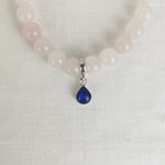 Phoenix Teardrop Ashes Rose Quartz Bracelet