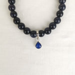 Phoenix Teardrop Ashes Blue Goldstone Bracelet