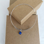 Phoenix Teardrop Ashes Bangle Bracelet