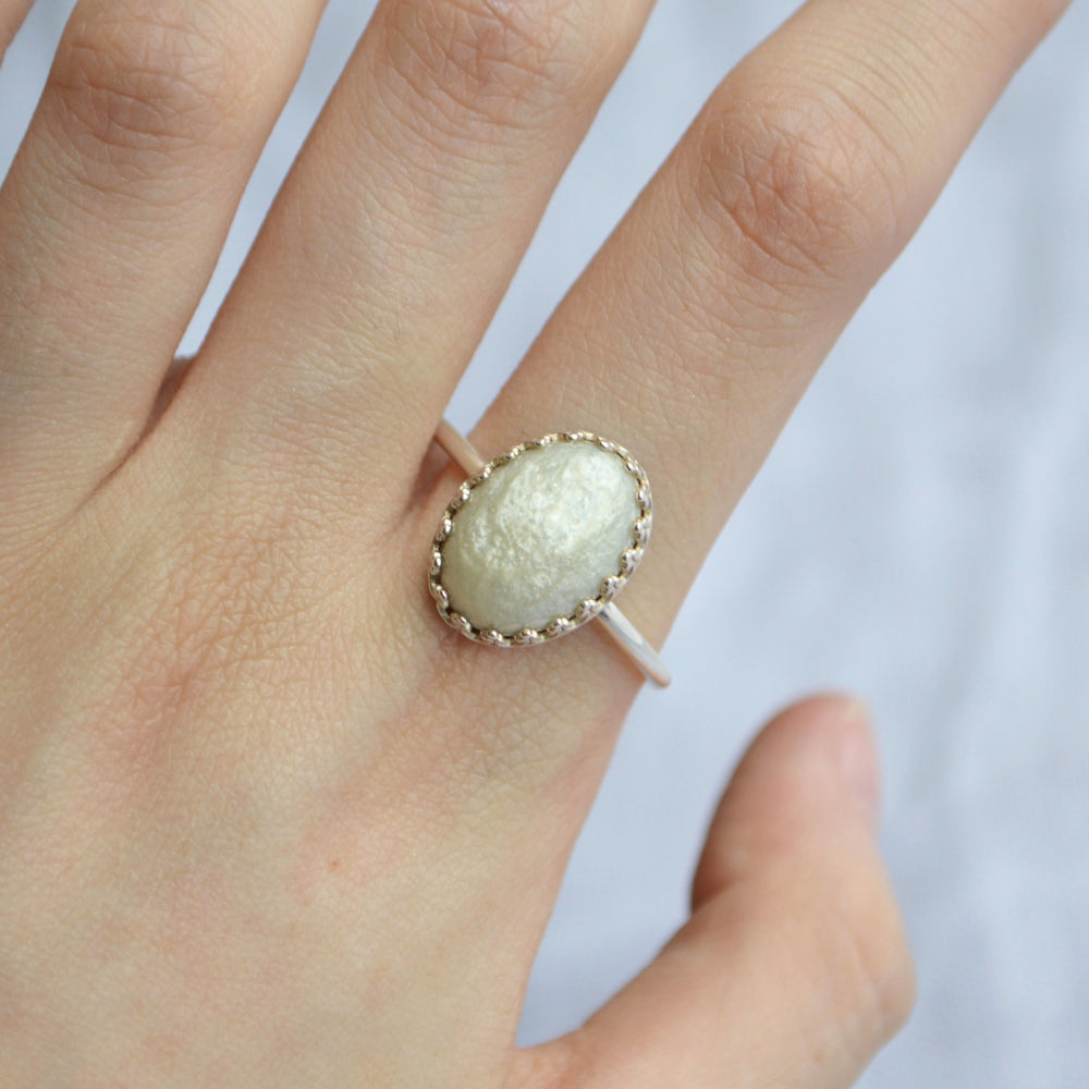 Princess Medium Stone Full Band Ashes Ring