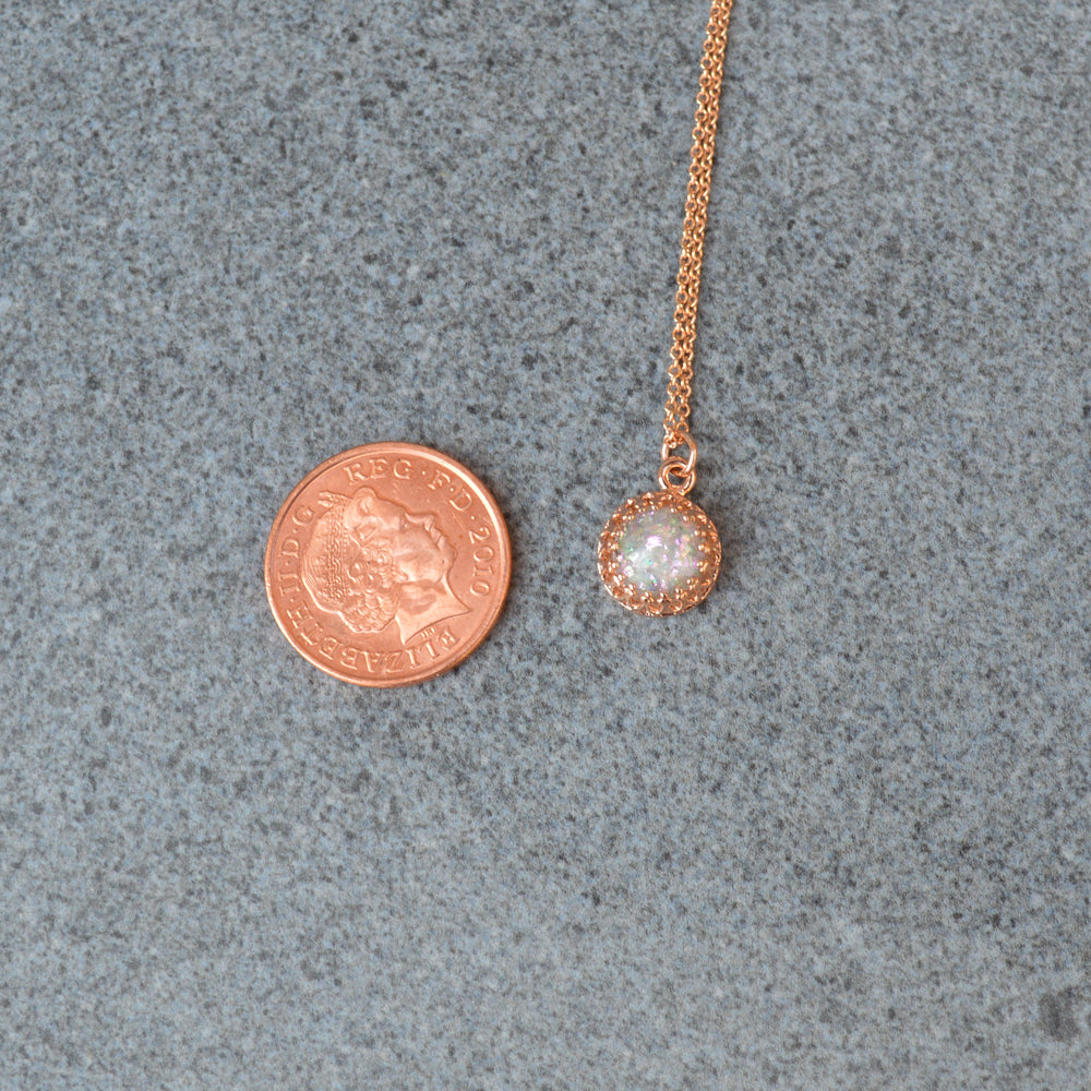 Rose Gold Princess Small Stone Ashes Necklace