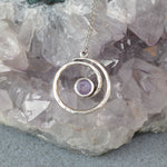 Ashes Spiral Hammered Necklace