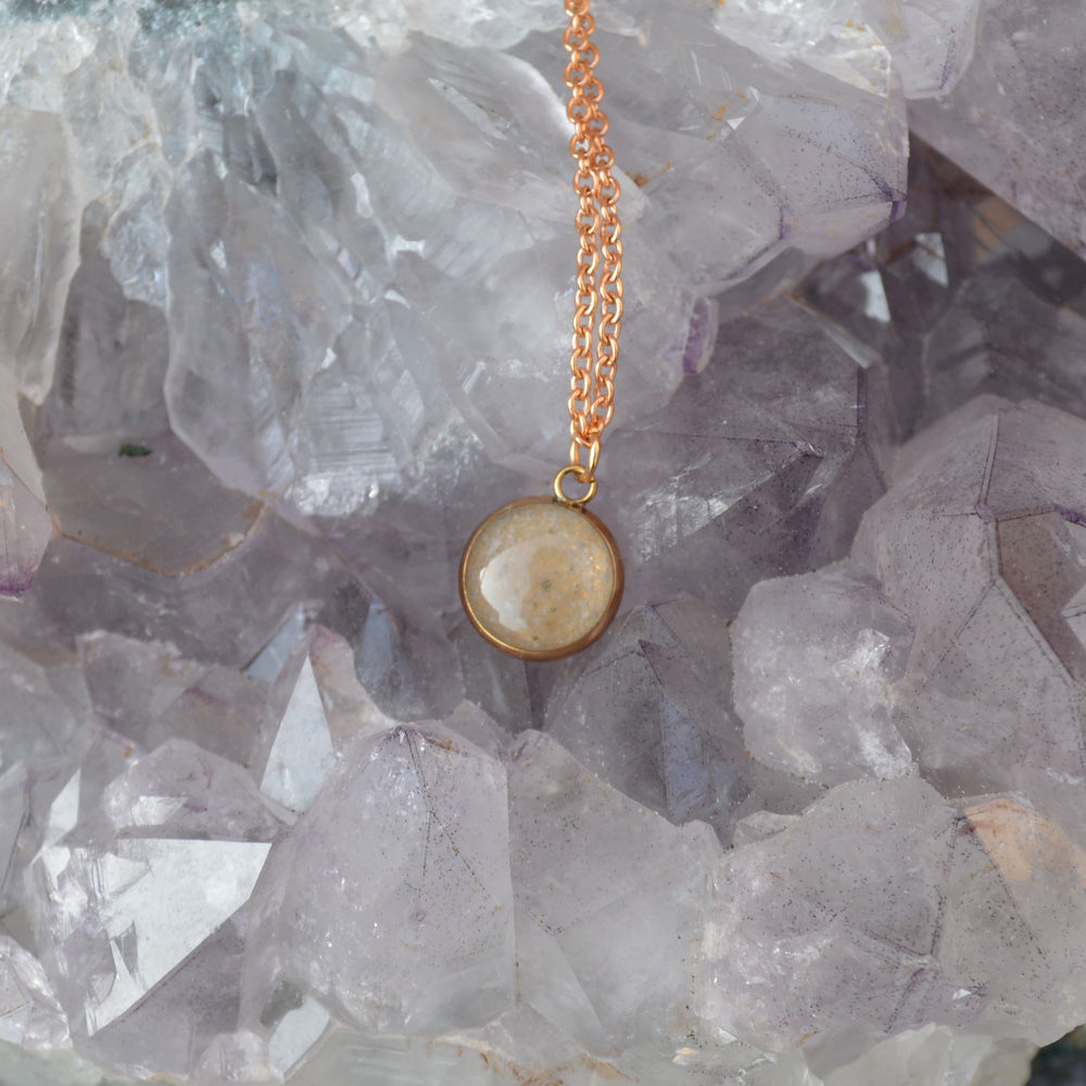 Rose Gold Genuine Moon Dust Hypoallergenic Necklace