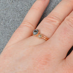 Gold Genuine Moon Dust Hand Blown Ring