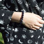 Genuine Shooting Star Princess Blue Goldstone Bracelet