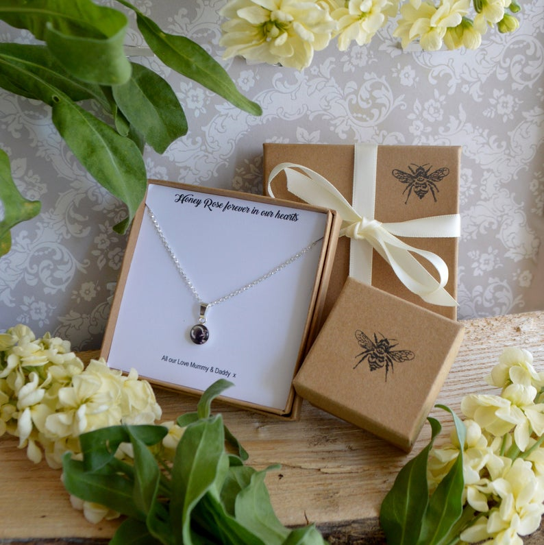 Tiny Ashes Rose Gold Necklace