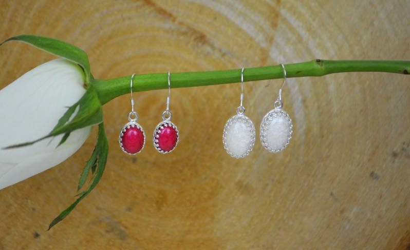 Princess Medium Stone Ashes Droplet Earrings