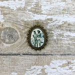 Custom Picture Brooch with a old black and white photo of couple