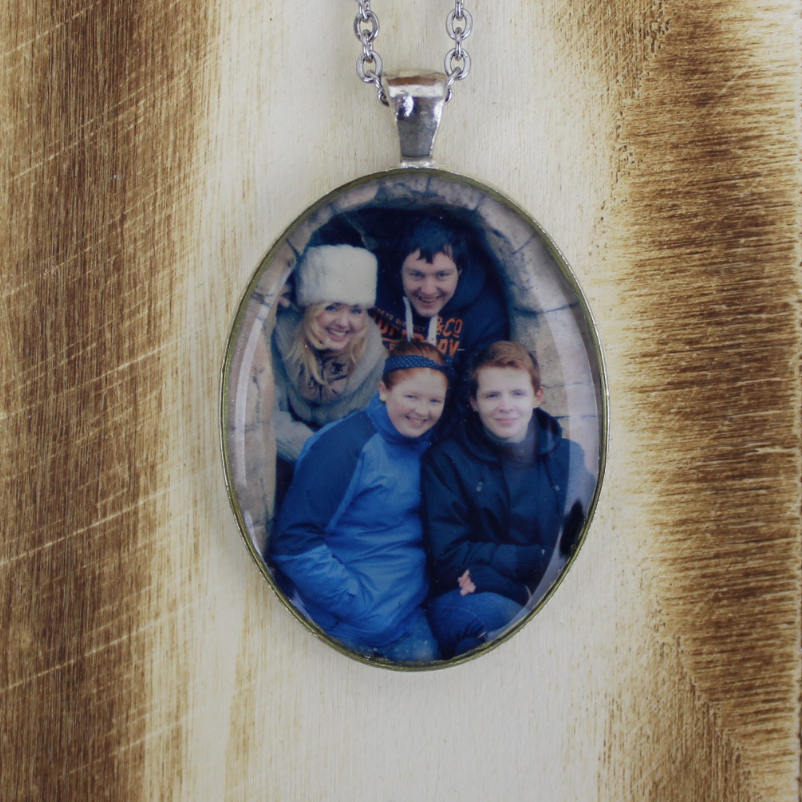 Silver Custom Picture Necklace