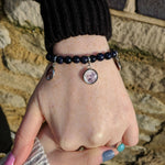 Blue Goldstone Custom Picture Bracelet of a Dog