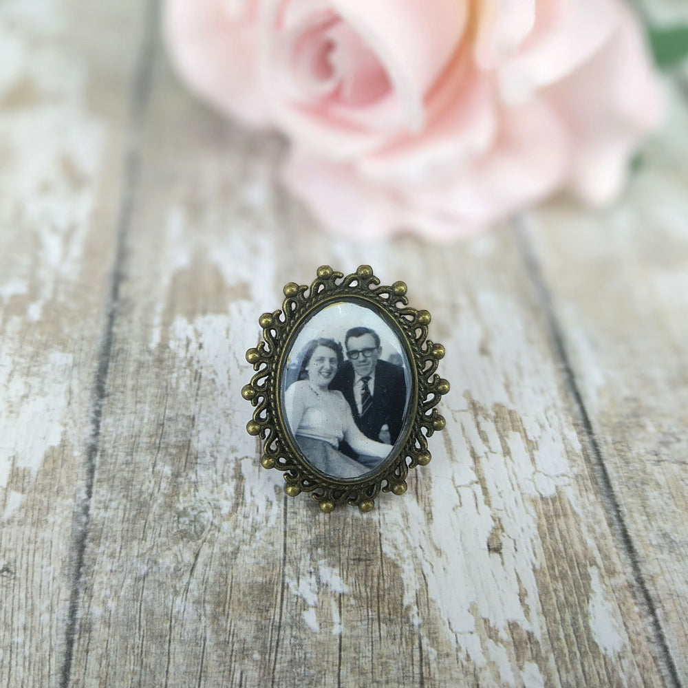 Custom Picture Vintage Gold Brooch