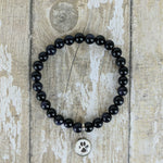 Blue Goldstone Custom Picture Bracelet of a Paw Print