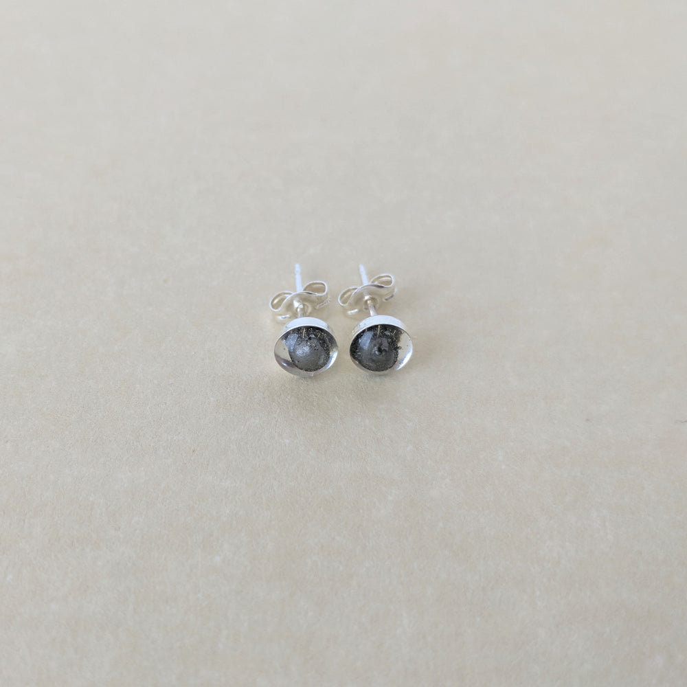 Genuine Shooting Star Iron Meteorite Stud Earrings