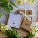 Ashes, personalised picture, Moon dust and shooting star gift box with a bee stamped on the front