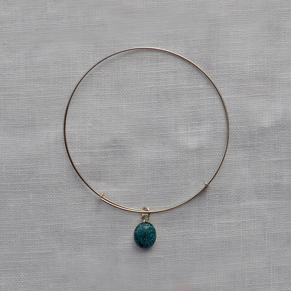 Phoenix Small Stone Ashes Bangle Bracelet