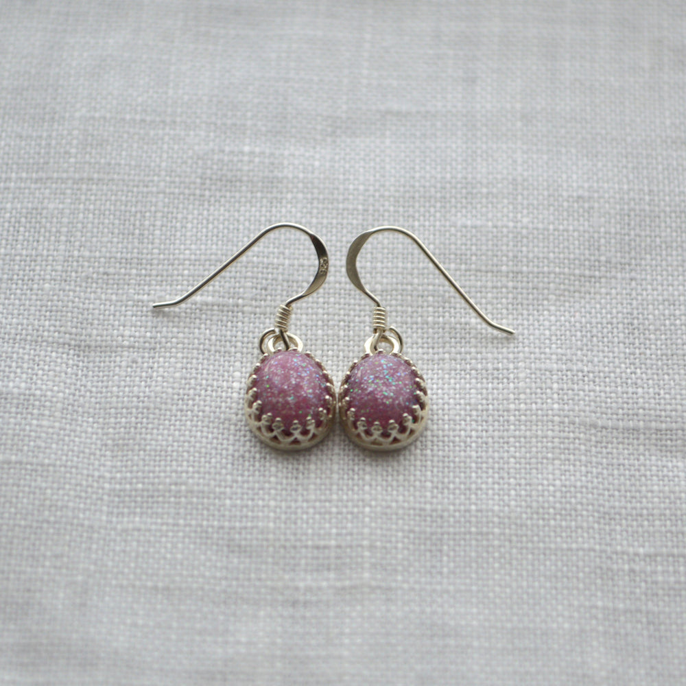 Princess Small Stone Ashes Droplet Earrings