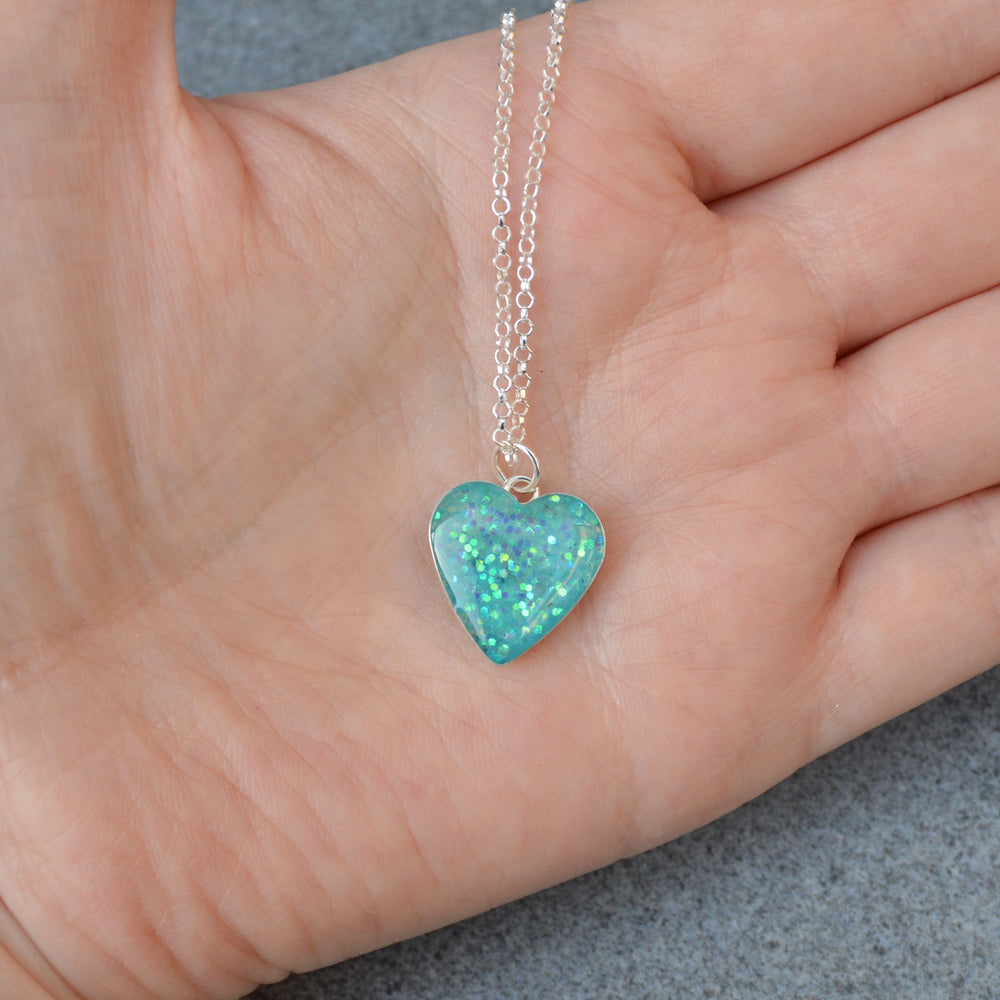 Large Heart Ashes Necklace