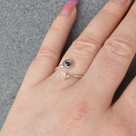 Moon & Shooting Star Twist Ring