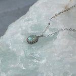 Princess Small Round Stone Ashes Necklace