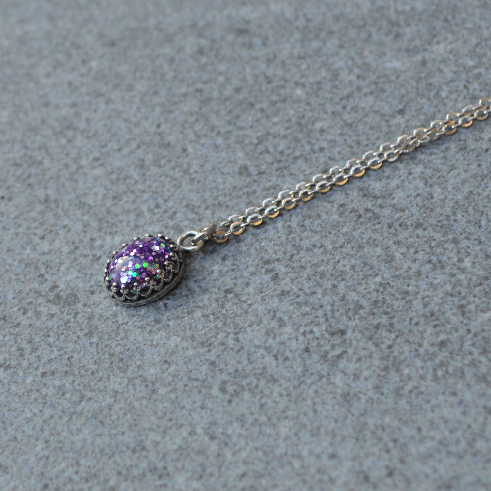 Princess Small Oval Stone Ashes Necklace
