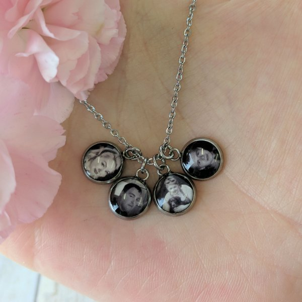 Tiny Personalised Picture Hypoallergenic Stainless Necklace