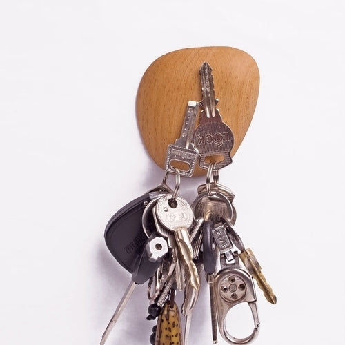 Cobblestone Wood Magnet Keys Hook