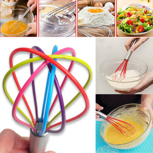 Multicolor Kitchen Premium Silicone Whisk With
