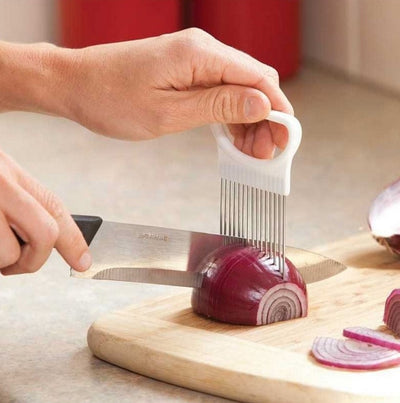 Smart Stainless Steel Onion Slicer - Buz buys