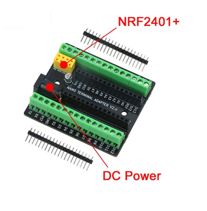 Nano Terminal Expansion Adapter Board for Arduino Nano V3.0 AVR ATMEGA328P With NRF2401+ DC Power