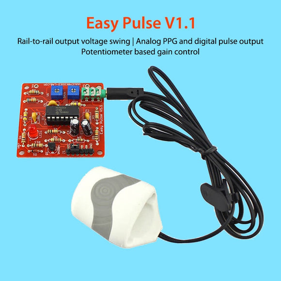 Pulse Sensor Heart Rate V1.1 DIY Electronic Module Kit for Makers Hobby Educational Applications