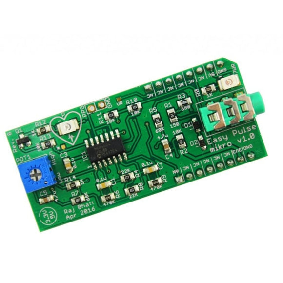 Easy Pulse Mikro Pulse Sensor for Arduino DIY Kit with Transmittance PPG Pulse Sensor
