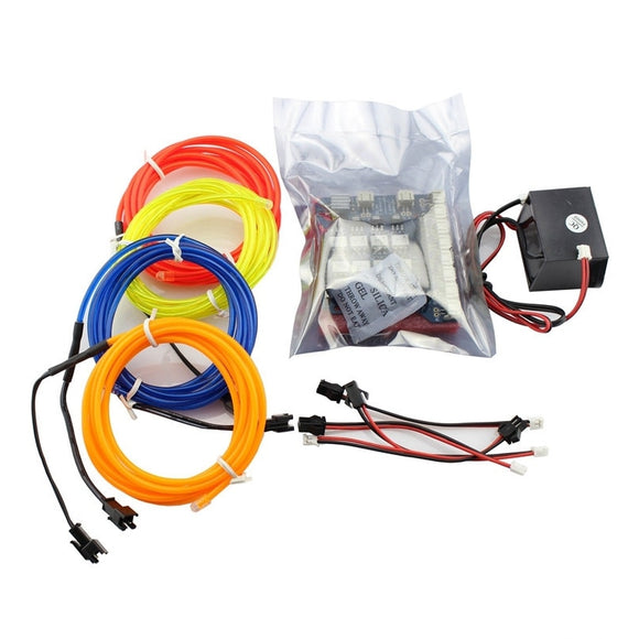 8-Channel EL Shield Kit for Arduino 5V Inverter EL Wires 2M Adaptor Electronic Luminescence Colorful LED DIY Project