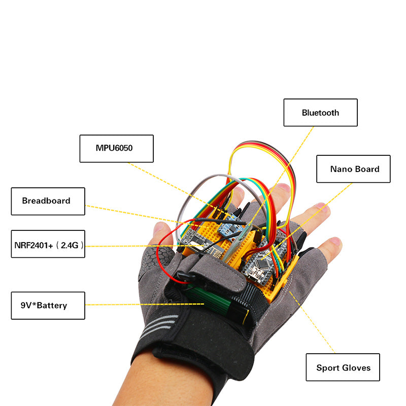 Motion-Gesture Kit for Arduino Nano V3 0 Supports Robot Smart Car with  MPU6050 Module