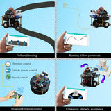 Beetle-Bot Robotic Car Kit With Black Line Tracking, Infrared And Ultrasonic Obstacle Avoidance